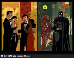 Batman Iron Man DC Comics Tony Stark revenge Batman The Dark Knight Bruce Wayne Dc Memes, Marvel Memes, Marvel Dc Comics, Marvel Avengers, Tony Stark, Crossover, Captain America, Iron Man, Univers Dc