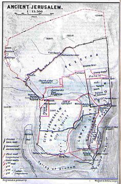 Map of Ancient Jerusalem | Jewish Virtual Library