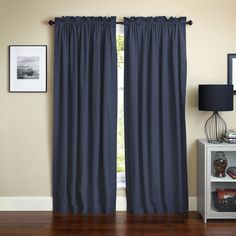 Blazing Needles 108-inch by 52-inch Twill Curtain Panels (Set of 2) - Overstock™ Shopping - Great Deals on Blazing Needles Curtains