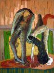 """""""Human Stuttering"""", oil on canvas, 100 x 120 cm artist: Maia Stefana Oprea www.maiaoprea.ro"""