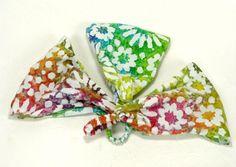 Rainbow Batik Headband / Batik Rainbow Hippie Headband/