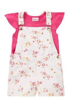 Shirt & Overall 2-Piece Set (Little Girls)