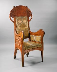 Henri-Jules-Ferdinand Bellery-Desfontaines / Armchair / c. 1905 / beautiful art nouveau style chair with tapestry covers | The Metropolitan Museum of Art | JV