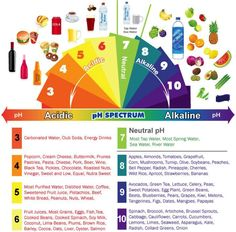 Health & nutrition tips: Alkaline & Acidic Foods Chart - The pH Spectrum Acidic Food Chart, Acidic And Alkaline Foods, Acid And Alkaline, Acidic Diet, List Of Acidic Foods, Health And Nutrition, Health And Wellness, Health Fitness, Workout Fitness
