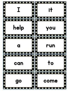 """This is a 22 page download of all 220 Dolch words and 1 blank page form to add any words you choose. There are ten cards on each page.  Each card is  2 """" X  3 3/4"""".These cards are designed to be printed on cardstock and laminated. They will be great for practice in any situation: learning centers, homework, games, word walls, pocket charts, and many other ways."""