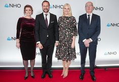 Crown Prince Haakon and Crown Princess Mette Marit attended the NHO annual dinner