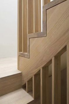 Wooden stairs by Sam Tisdall Architects New Staircase, Interior Staircase, Staircase Design, Interior Architecture, Architecture Details, Modern Stairs Design, Stair Design, Stair Handrail, Staircase Railings