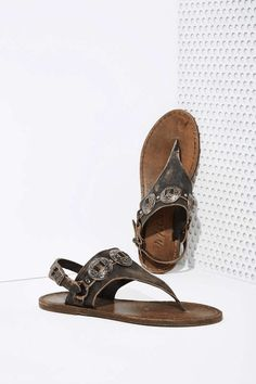Nasty Gal | Mexicali Leather Concho Sandals #nastygal #sandals