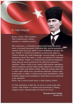 Gazi M.Kemal ATATÜRK'ün Gençliğe Hutbesi.
