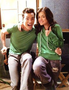 Lucy Hale (Aria) & Ian Harding (Ezra) #PLL