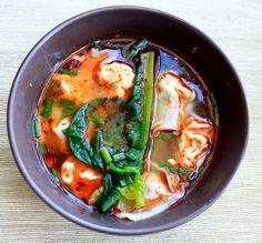 Weekend idea: homemade wonton soup.