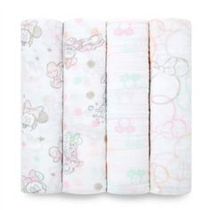 aden® by aden + anais® Disney Minnie Cotton Muslin Swaddle Blankets in Pink Muslin Blankets, Muslin Swaddle Blanket, Wearable Blanket, Baby Bedding Sets, Baby Invitations, Baby Girl Blankets, Baby Disney, Disney Baby Bedding, Burp Cloths