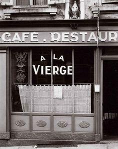 """Paul Strand: """"Café a la Vierge, Meurthe-et-Moselle, Nancy, France""""  1950"""
