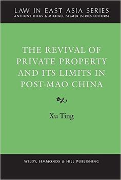 This monograph examines the nature and significance of the re-emergence of private property in rapidly changing post-Mao China. In examining this issue, the study explores a key dichotomy in Chinese law, that is, 'public versus private', and examines the manner in which the Chinese define ownership. The study stresses the importance of lack of clarity in the boundaries between the public and the private in property rights.