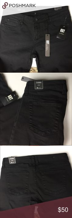 Kut From the Kloth Black Skinny Jeans Diana skinny jeans. New with tags. Perfect condition. Just too small for me right now. 🙃 Kut from the Kloth Jeans Skinny