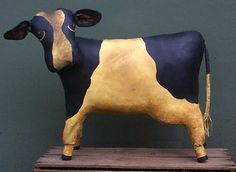 Primitive Pattern E Digital Pattern pdf Primitive Cow Bessie  Folk Art Awesome