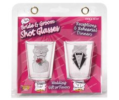 Bride and Groom shot glasses. - $4.95    The Bride's says: I Do    The Grooms says: If I have to! See more at http://www.myhensparty.com.au
