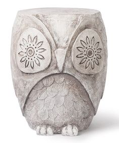 This Hoot Garden Stool by Foreside is perfect! #zulilyfinds