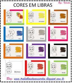 Trabalhando com Surdos: LIBRAS Cores cartaz para imprimir