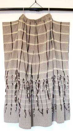Issey Miyake - built in tassel skirt from daily japanese textile blog
