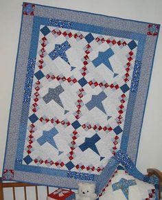 A Marsha McCloskey Pattern, Airplane Quilt