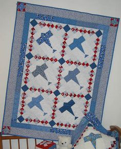 A Marsha McCloskey Pattern, Airplane Quilt