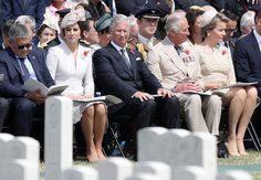 King Philippe and Queen Mathilde of Belgium, Prince Charles, Prince William and Duchess Catherine attend the commemorations at the Tyne Cot Commonwealth War Graves Cemetery in Ypres, as part of a series of commemorations for the 100th anniversary of the Battle of Passchendaele.