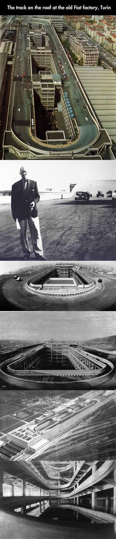 Fiat factory rooftop test track