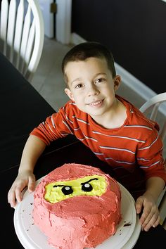 Ninjago cake. This is totally do-able.