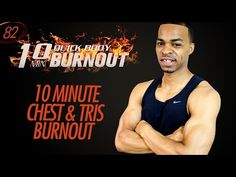 10 Min. Home Chest & Triceps Workout Finisher - No Bench Required | 10 Minute Burnouts #82 - YouTube