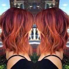 Auburn with Orange Highlights