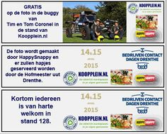 Animerende banner geplaatst op Koopplein Midden-Drenthe van onze geweldige foto actie met de buggy van Tim en Tom Coronel.  http://koopplein.nl/middendrenthe/745016/kooppleinnl-op-de-bedrijven-contactdagen-drenthe.html