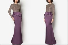 On Modesty & Ready To Wear JLuxe By Jovian Collection For Raya 2015: beaded-peplum-long-dress