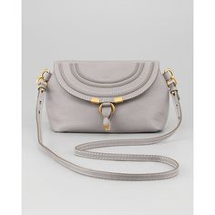 Chloe Marcie Pouchette Crossbody Bag, Gray ($550) ❤ liked on Polyvore