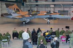 The Royal Canadian Air Force unveiled the colours of the CF-18 Hornet display aircraft for 2015. (DND). It celebrates the 75th anniversary of the Battle of Britain, and in particular the scheme of Canadian Pilot Flight Lieutenant MacGregor, of 1940.