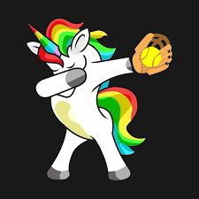 Shop Funny Dabbing Unicorn Softball Tee Funny Dab GifTee mom t-shirts designed by FavoriteTrendingTee as well as other mom merchandise at TeePublic. Softball Quotes, Softball Pictures, Girls Softball, Sport Quotes, Softball Things, Softball Stuff, Slow Pitch, Fastpitch Softball, Soccer