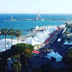 The tent village provides privacy for celebrities and the rich as they attend the Cannes Film Festival