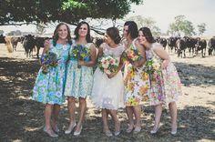 Cute floral bridesmaids dresses