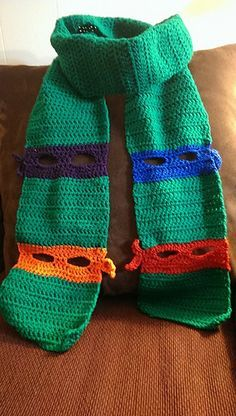 Ninja turtle scarf.  I know just the boy to make this for too!