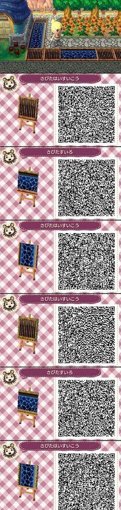 Animal Crossing New Leaf QR codes paths water Animal Crossing Qr Codes, Animal Crossing 3ds, Acnl Qr Code Sol, Wood Path, Acnl Paths, Motif Tropical, Motif Acnl, Ac New Leaf, Motifs Animal