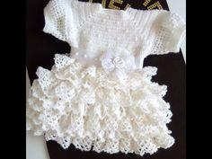 The Dress, Baby Dress, Crochet Videos, Crochet Fashion, Crochet Baby, Ruffle Blouse, Babies Clothes, Youtube, A3