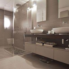 cappuccino fliesen und weiße farbe im kleinen bad | bad beige ... - Badfliesen Modern
