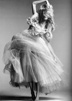 Model - Anja Rubik Photography - Greg Kadel ... | soft | dance | woman | editorial | fashion | blonde | black and white | www.republicofyou.com.au