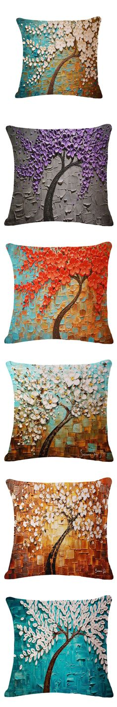 "Pouf 18"" X 18"" 3d Flower Tree Decorative Throw Pillows Kussens Home Decor Cushions Coussin Decoration Cuscini Cojines Almofadas $9.99"