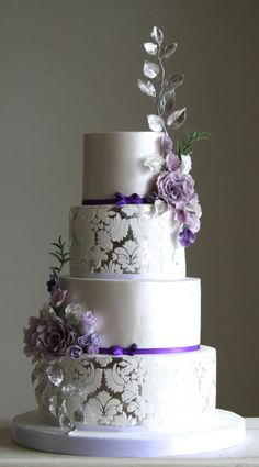 light blue and purple wedding cake modern purple arizona wedding purple accents grey suits 16848