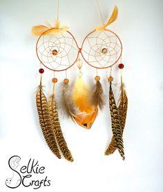 Copper Owl Dream Catcher.
