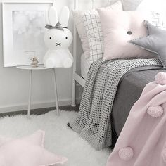 Scandinavian girls bedroom. Interior styling and photography by Justine Ash