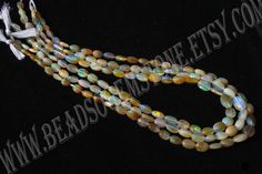Ethiopian Opal Smooth Oval (Quality AA) /  4.5x6 to 6x9 mm / 5 to 7 Grms / 36 cm / ET-056 by beadsogemstone on Etsy