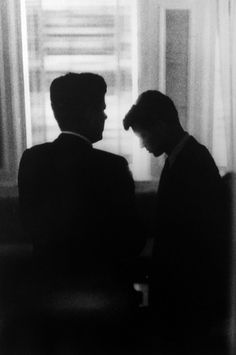 John F. Kennedy & Robert F. Kennedy at the Biltmore Hotel, Los Angeles  1960