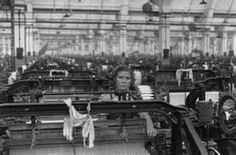 SOVIET UNION. Moscow. 1954. Textile factory.